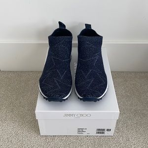 JIMMY CHOO 'Norway' Knit Sneakers 40=39. One size down.